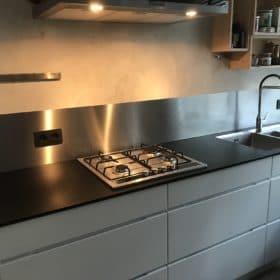 RVS Achterwand keukenblok