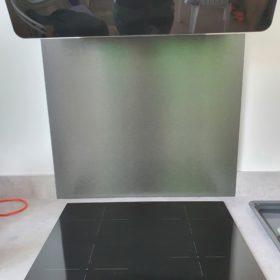 Achterwand zwart op maat - Anti-fingerprint- RVS