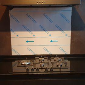 Achterwand zwart 90x70 - RVS - Anti-fingerprint