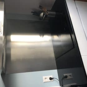 RVS Achterwand 90x75 - Anti-fingerprint