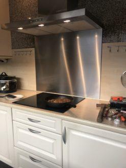 RVS keukenachterwand op maat