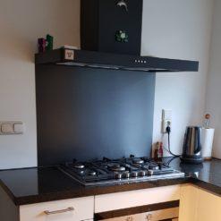 rvs keukenachterwand zwart