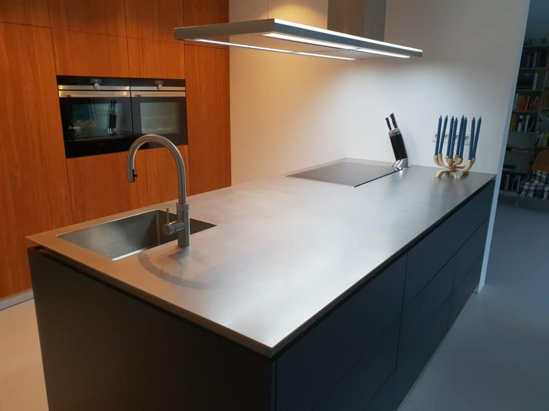 Keukenblad 4mm massief RVS
