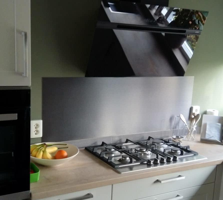 RVS Plaat achter kookplaat